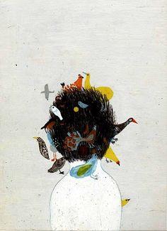 "Violeta Lopiz ""A Head Full of Birds""."