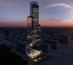 Capital Bank, Calle 50, Panama - Bettis Tarazi #architecture #bank #comercial #panama #design #luxury #style #spaces #architecturedesign #urban #corporate #night