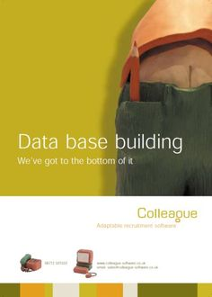 Bottom of database building colleague software advert
