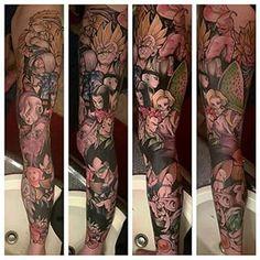 Esta retrato de Dragon Ball Z es maravilloso. | 23 tatuajes de manga en la pierna locamente elaborados