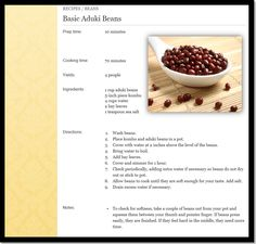 Basic Aduki Bean Recipe, from Nourish By Nature! (image c/o acupunctureaustralia.com.au)