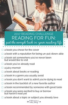 The Modern Mrs Darcy 2017 Reading Challenge. Get more out of your reading life in 2017 with this choose-your-own-bookish-adventure challenge!