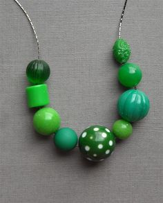 green mountain necklace  vintage lucite and by urbanlegend on Etsy