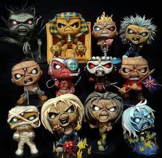 Open letter to Funko. Make these Iron Maiden Pops! Give us piece of mind somewhere in time. We have been troopers waiting patiently but it's time to unleash the number of the beast! Heavy Metal Rock, Heavy Metal Bands, Bruce Dickinson, Hard Rock, Iron Maiden Mascot, Iron Maiden Posters, Iron Maiden Albums, Eddie The Head, Iron Maiden Band