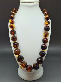 """19,1"""" Genuine Baltic Amber Choker Necklace Choker Baroque Cognac #Amber #Choker Amber Necklace, Beaded Necklace, Baltic Amber, Baroque, Chokers, Detail, Ebay, Jewelry, Pearl Necklace"""