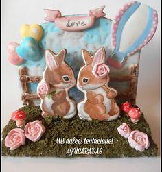 Curso online conejitos enamorados galletas 3d