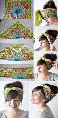 Tutorial for Bandana Hairstyles
