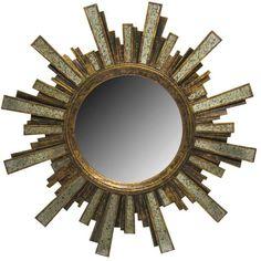 Antique Gold Starburst Wall Mirror