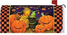 Halloween Cats - Decorative Mailbox Makeover Cover by Custom Decor. $17.99. Halloween Magnetic   Mailbox Cover   by Custom Decor is pre-cut to fit a standard metal mailbox 6 1/2 wide x 19 deep. Attaches using magnetic strips. Address numbers are not included. Trimmable for a custom fit. Mailbox covers transform your mailbox into a work of art, which you can change for every season and holiday. Our durable reusable screen-printed mailbox covers are vinyl protec...