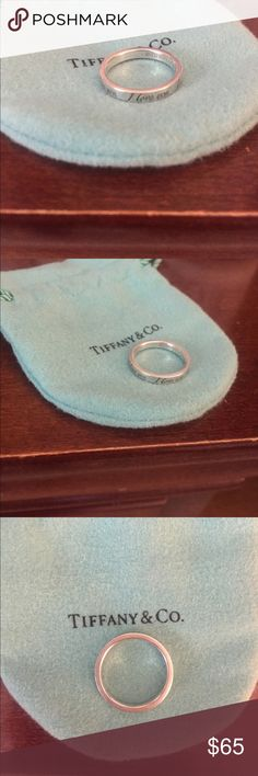 Tiffany & Co. Ring Tiffany & Co. ring. Size 6. It says I love you around the ring (5 times). AUTHENTIC. Tiffany & Co. Jewelry Rings
