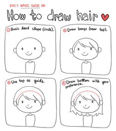 So someone asked about drawing hair. And I was going to put something about hair in the last tutorial-thingy, but I didn't, so I made this. It looks completely useless to me, but I hope it helps even a bit?? TuT;; (Now you guys know that my cute drawings are simple & not at all special. Anyone can do it~ n____n)