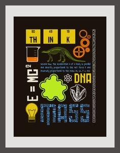 Science 85x11 Print by artfullyamber on Etsy, $20.00