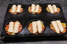 Tortilla de légumes gratinée au reblochon (grands ronds Flexipan)