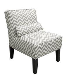 Skyline Furniture Armless Chair in Zig Zag Grey / $224.40 / Amazon