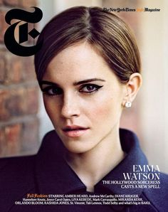 Emma Watson on the cover of The New York Times Magazine. A/W 12  ph: Alasdair McLellan   Styling: Anastasia Barbieri