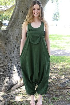 514f076985 Funky OverallsPure Cotton OverallsLoose Fitting by lallidesign Baggy  Jumpsuit