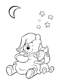 winnie the pooh hold flowers | winnie the pooh coloring pages ... - Disney Baby Piglet Coloring Pages