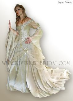Medieval wedding dresses, Fairy & Celtic wedding dresses by Rivendell Bridal.... I can certainly see creating a few of these styles... gorgeous!!