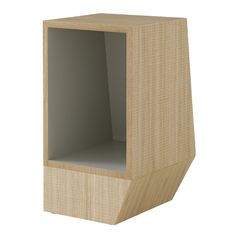 Asymetrical side table at home in a bedroom or living room. Finish: sawn rough oak with blue-grey lacquered interior. Dimensions: x Dv 33 x H 50 Small Storage, Storage Shelves, Shelving, Wardrobe Systems, Ligne Roset, Bedroom Furniture, Blue Grey, Home Accessories, It Is Finished