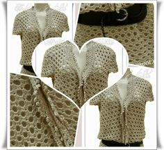 Blusa Rom�ntica em croch�