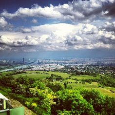 Photos at Kahlenberg - Mountain in Heiligenstadt Vienna Austria, Berg, Great View, Four Square, Most Beautiful Pictures, Europe, Clouds, Mountains, City
