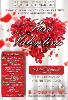 San Valentino c/o IL CAPRICCIO   http://www.salentomonamour.com/mangiare/item/86-il-capriccio.html