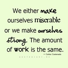Not sure at all about the equation.  Being strong takes way more effort, but is a worthy goal.