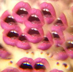 Kaleidoscope pink lips