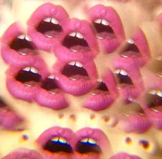 Kaleidoscope pink lips