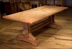 nice heavy wooden table