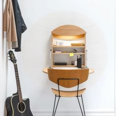 The RADIUS wall desk by german furniture designer offers a space saving home office solution for working at home in times of Corona Compact Furniture, Smart Furniture, Home Furniture, Furniture Design, Space Saving Desk, Space Saving Furniture, Design Shop, Bed Designs With Storage, Smart Desk