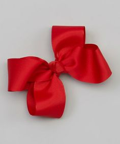 This Crimson Bow Barrette Clip by The Bow Band is perfect! #zulilyfinds