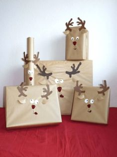 New craft paper gift wrapping ideas 65 Ideas Homemade Christmas Gifts, Christmas Crafts For Kids, Christmas Humor, Handmade Christmas, Christmas Fun, Holiday Crafts, Christmas Decorations, Christmas Images, Holiday Ideas