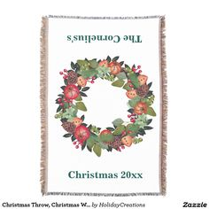 Christmas Throw, Christmas Wreath
