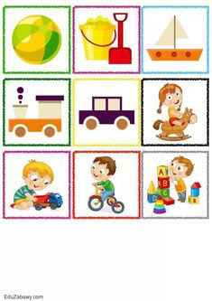 Teaching Kids, Montessori, Clip Art, Children, Illustration, Word Bingo, Infant Games, Activities, Stuff Stuff