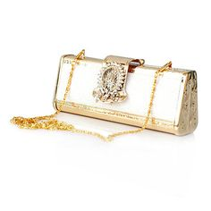 Stainless Steel Shell With Rhinestone Evening Handbags/ Clutches More Colors Available – USD $ 16.99