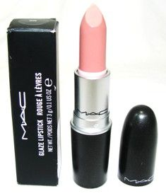 """Hue"" by MAC.  This is my favorite lipstick shade of ALL TIME.  It looks pinker in the tube than it is.  It is a nice, neutral, pinky-nude shade (more pink than nude).  Love the texture - creamy, not frosty."