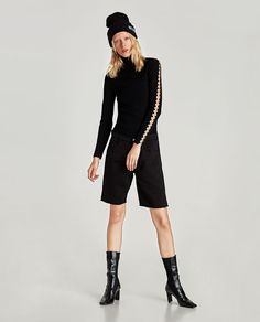 ZARA - WOMAN - POLO NECK SWEATER WITH SLEEVE RINGS