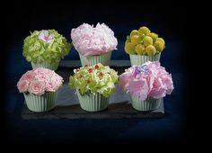 """Offrez des fleurs : le bouquet """"Les Cupcakes"""" avec Interflora."""