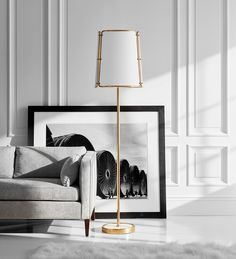 H A S T I N G S The magnificent Hastings Floor Lamp is the newest addition to our @visualcomfortco range - a contemporary white metal lampshade with elegant tubular brass framing and a white marble base ✨ in stock at Bloomingdales. - @carrierandco @citylights_detroit Large Floor Lamp, Visual Comfort Lighting, White Highlights, White Marble, Antique Brass, Shades, Flooring, Contemporary, Antiques