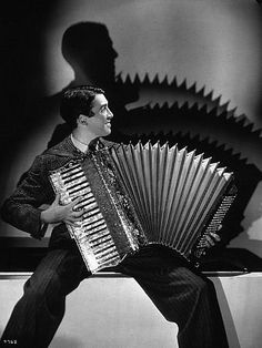 James Stewart (he actually did play the accordion)