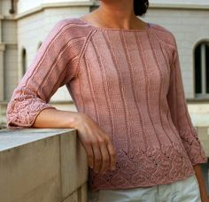 Chinese lace edging on a pullover