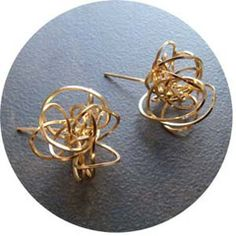 Jules. Nerve Block Earrings - Love the mess of it all in silver please.