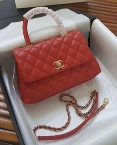 12e2dad5390e Chanel Coco Mini Handle Red Cool Designs, Designer Handbags, Designer Bags,  Designer Purses
