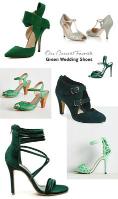 Our favorite Green Wedding Shoes