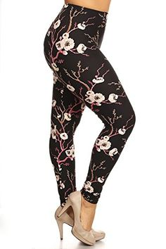 bfa664d5d24a0 World of Leggings Animal Print Trifecta Leggings - Plus Size at Amazon  Women's Clothing store: