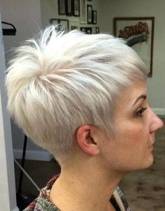 Today we have the most stylish 86 Cute Short Pixie Haircuts. We claim that you have never seen such elegant and eye-catching short hairstyles before. Pixie haircut, of course, offers a lot of options for the hair of the ladies'… Continue Reading → Short Hairstyles For Thick Hair, Haircuts For Fine Hair, Very Short Hair, Short Pixie Haircuts, Cool Hairstyles, Short Hair Styles, Popular Hairstyles, Hairstyle Ideas, Old Lady Haircuts