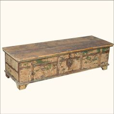 1. Nottingham Weathered Old Wood Coffee Table Chest