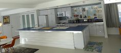 mid century modern kitchen vintage | ... with a snazzy band of retro aluminum edging from Eagle Mouldings