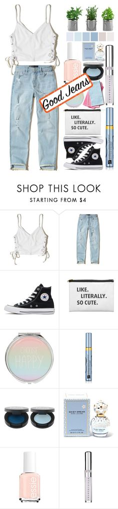 """..........."" by mnjoudeh ❤ liked on Polyvore featuring Hollister Co., Converse, Estée Lauder, Marc Jacobs and Chantecaille"